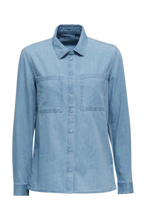 blouse easy blauw