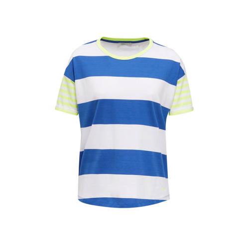 edc Women gestreept T-shirt Core blauw/wit/geel
