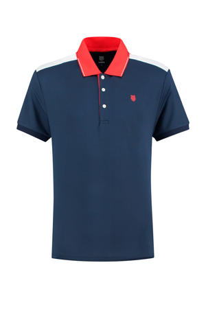 sportpolo donkerblauw/rood
