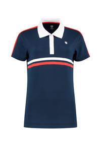 K-Swiss sportpolo donkerblauw/rood, Donkerblauw/rood
