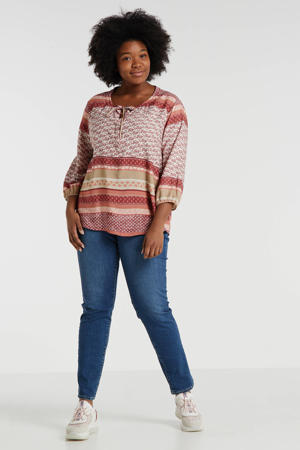 top met all over print oudroze/multi