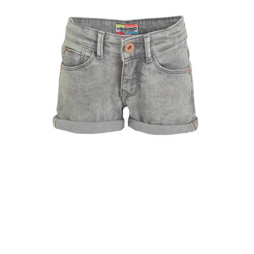 Vingino jeans short Dewy lichtgrijs