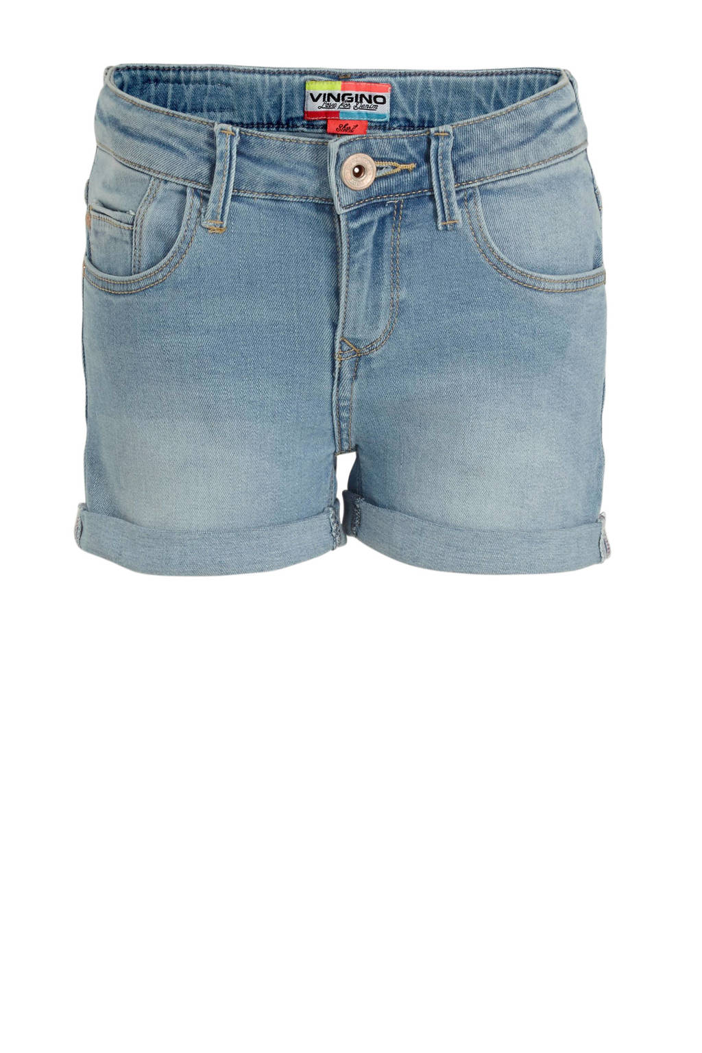 Vingino jeans short Daizy light indigo, Light Indigo