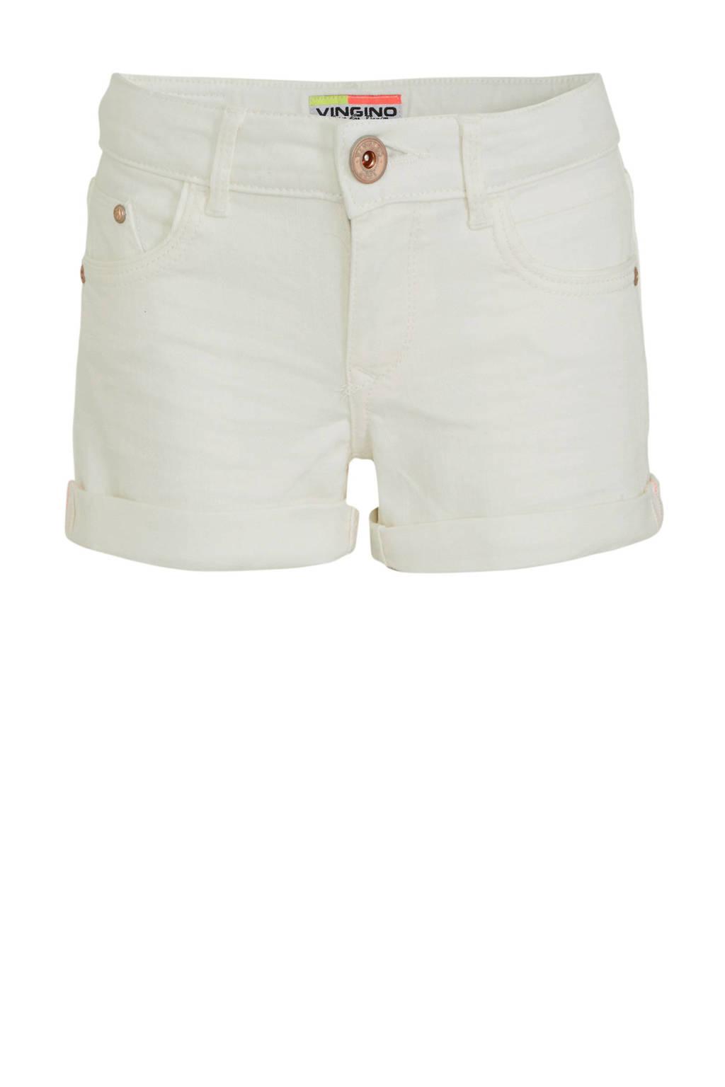 Vingino jeans short Damara wit, Wit
