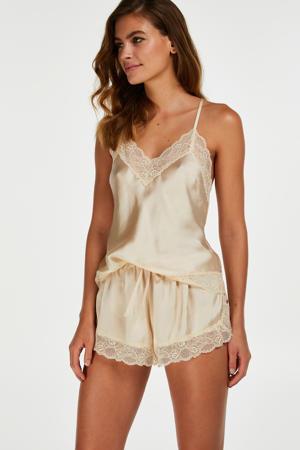 pyjamashort met kant ecru