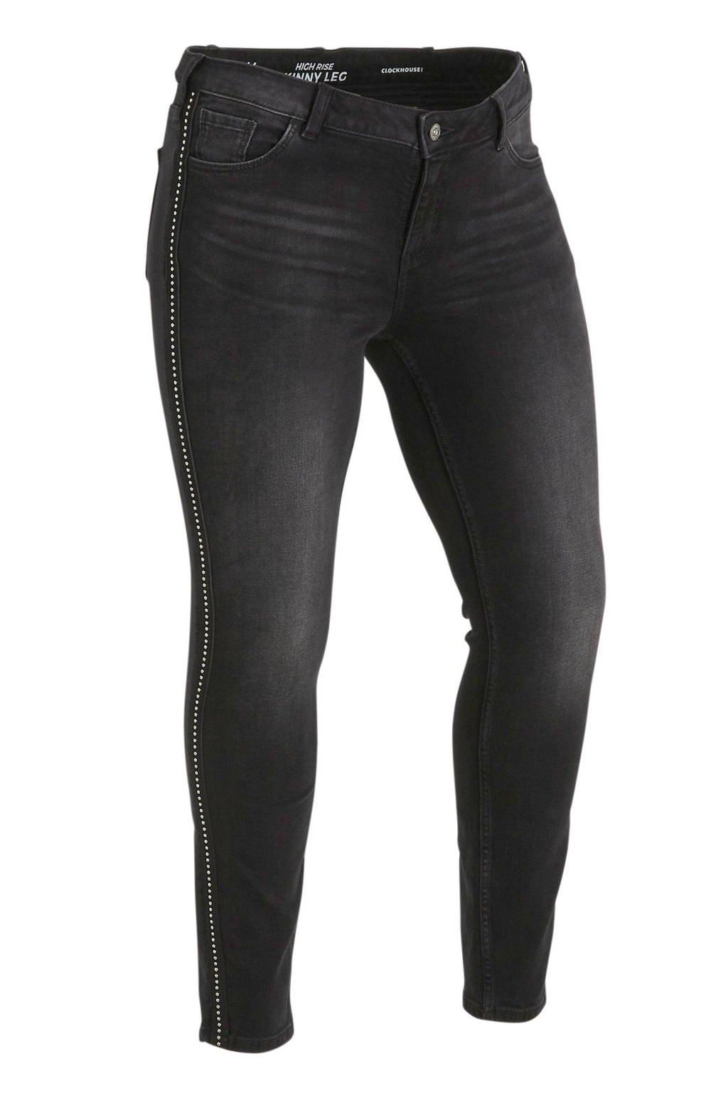 C&A XL Clockhouse high waist skinny jeans zwart, Zwart