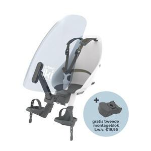 fietsstoeltje voor + windscherm actie met gratis montageblok Shinju White / Black