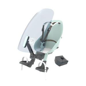 fietsstoeltje voor + windscherm actie met gratis montageblok Aotake Mint Blue / Shinju White