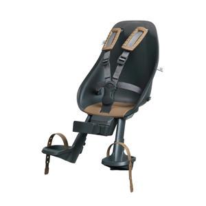 fietsstoeltje voor + windscherm actie met gratis montageblok Bincho Black / Kurumi Brown