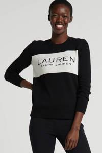 Lauren Ralph Lauren regular fit pantalon zwart, Zwart