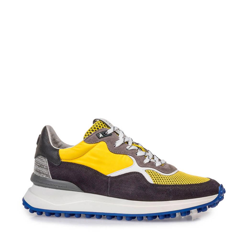 Floris van Bommel   suède sneakers geel, Geel/multi