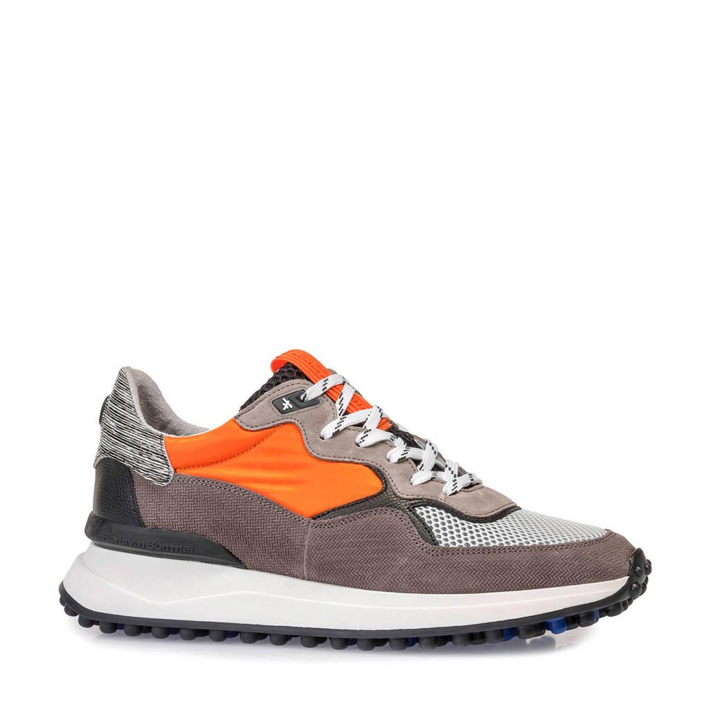 Floris van Bommel   suède sneakers oranje/grijs, Oranje/grijs