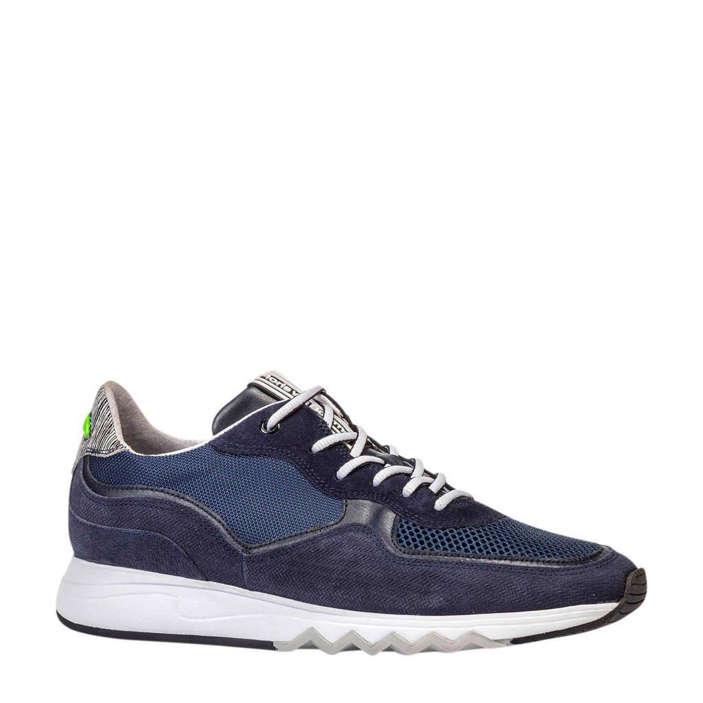 Floris van Bommel   suède sneakers donkerblauw, Donkerblauw