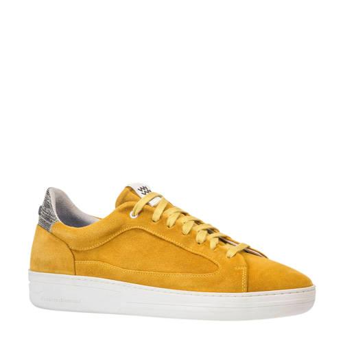 Floris van Bommel su??de sneakers geel