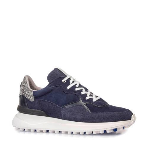 Floris van Bommel su??de sneakers donkerblauw