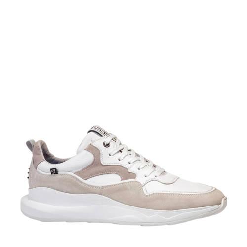 Floris van Bommel leren sneakers wit/beige