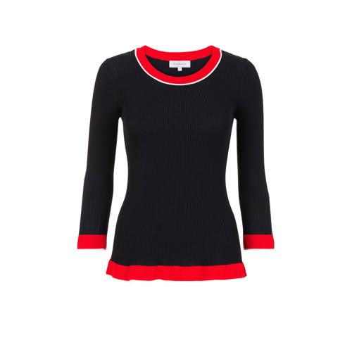 PROMISS gebreide trui zwart/rood