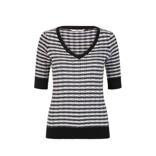 Steps gebreide trui zwart/wit