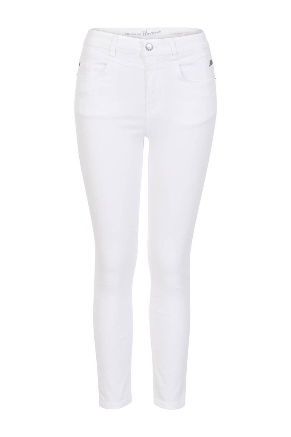 Miss Etam Regulier high waist skinny jeans wit, Wit