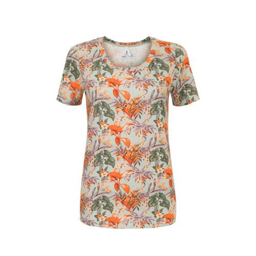 Miss Etam Regulier T-shirt met all over print mult