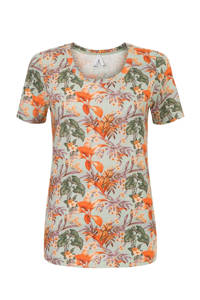 Miss Etam Regulier T-shirt met all over print multicolor, Multicolor