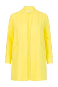 Miss Etam Plus ribgebreid vest geel, Geel