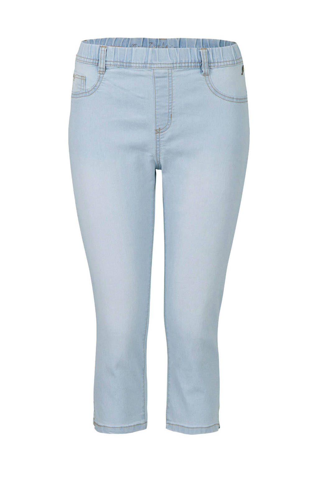 Miss Etam Regulier high waist slim fit capri jeans light denim bleached, Light denim bleached