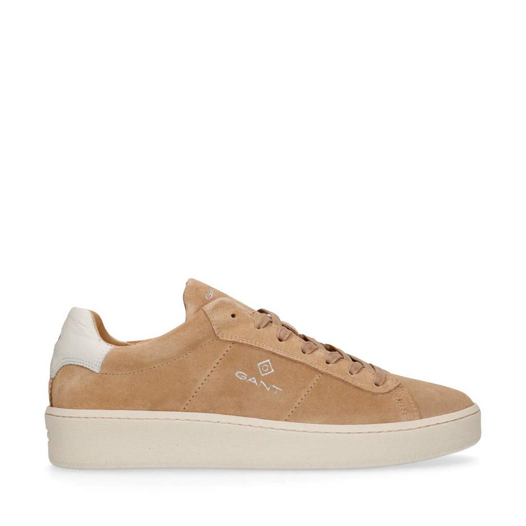 GANT Leville  suède sneakers camel/wit, Camel/wit