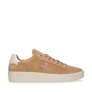 Leville  suède sneakers camel/wit