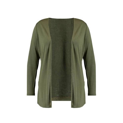 MS Mode vest olijfgroen