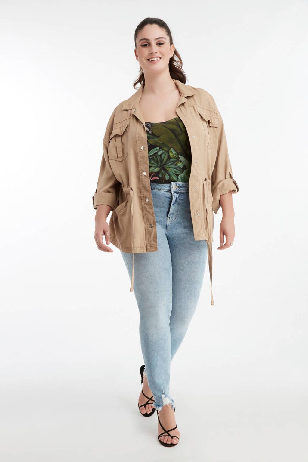 MS Mode high waist skinny jeans stonewash, Stonewash