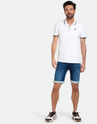 Refill by Shoeby slim fit polo Esrom wit, Wit