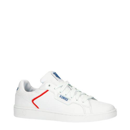 K-Swiss Clean Court II CMF leren sneakers wit/rood