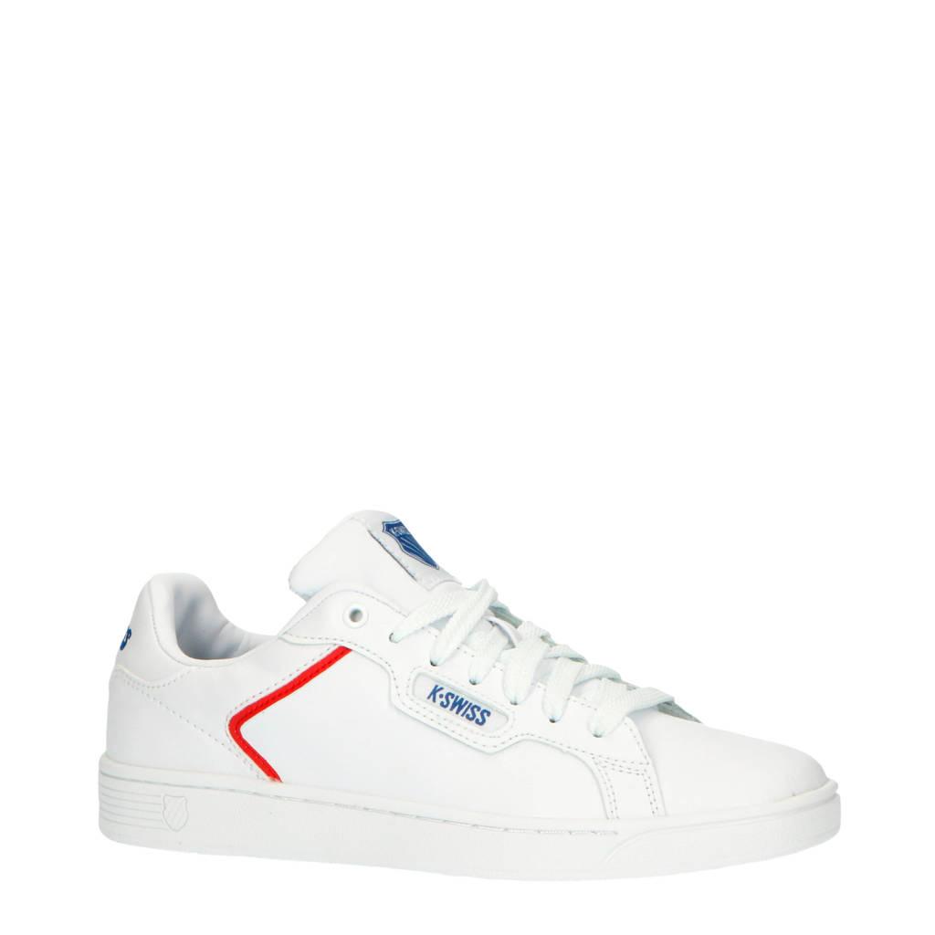 K-Swiss Clean Court II CMF  leren sneakers wit/rood, Wit/rood