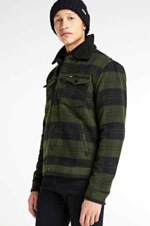 geruite  jas The tucker groen/blauw