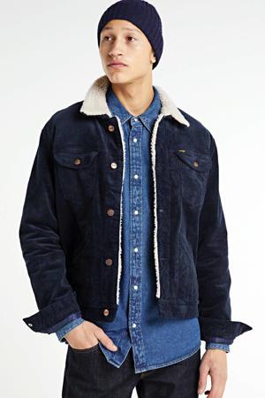 corduroy  jas Sherpa donkerblauw