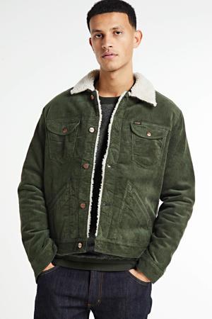 corduroy  jas Sherpa groen