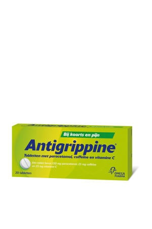 Antigrippine tabletten met paracetamol