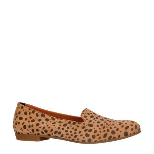 Sacha su??de loafers met cheetahprint