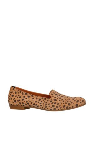 suède loafers met cheetahprint