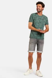 Refill by Shoeby T-shirt met all over print donkergroen/groen, Donkergroen/groen