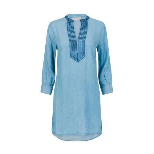 PROMISS jurk en borduursels blauw