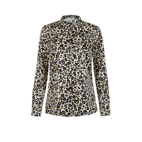 PROMISS blouse Tranoli met panterprint zwart/bruin