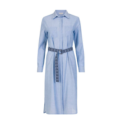 PROMISS blousejurk met ceintuur blauw