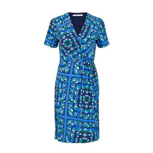 Steps jurk met all over print blauw