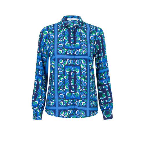 Steps blouse met all over print blauw
