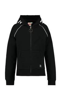 CoolCat Junior vest met tekst zwart/wit, Zwart/wit