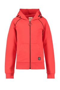 CoolCat Junior vest met tekst koraalrood/zwart, Koraalrood/zwart