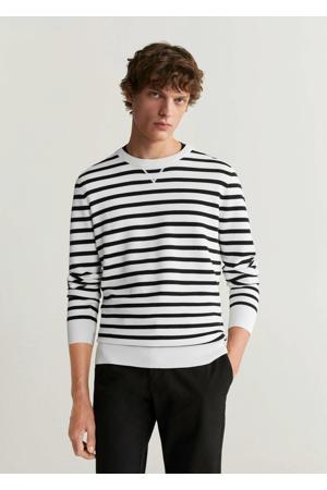 gestreepte sweater wit