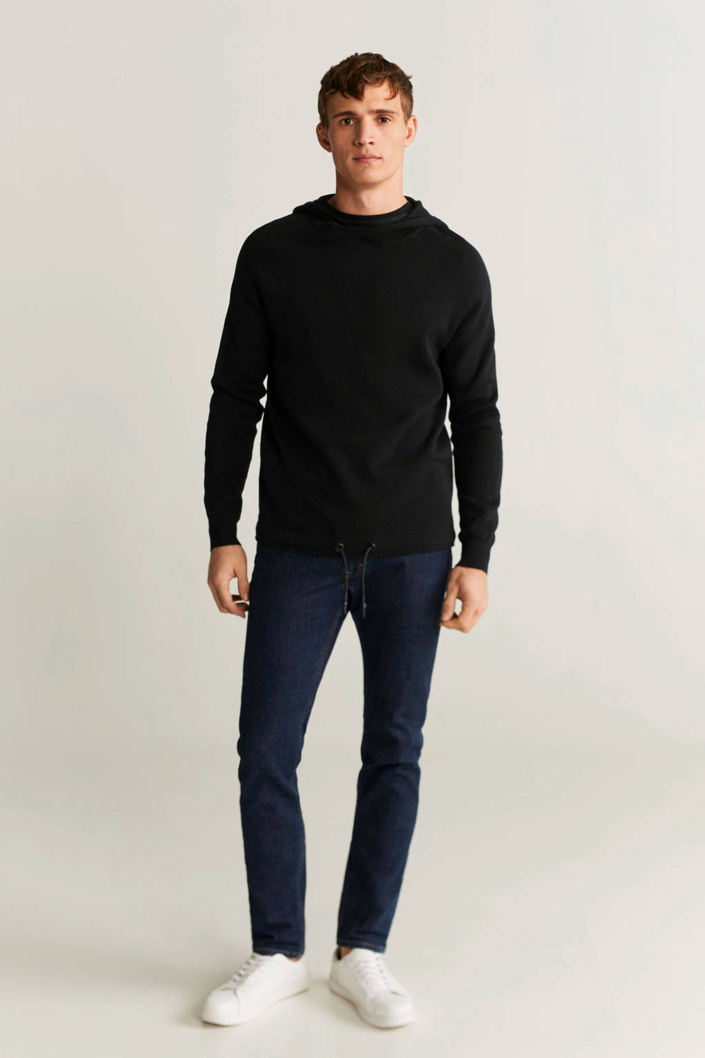 Mango Man hoodie zwart, Zwart
